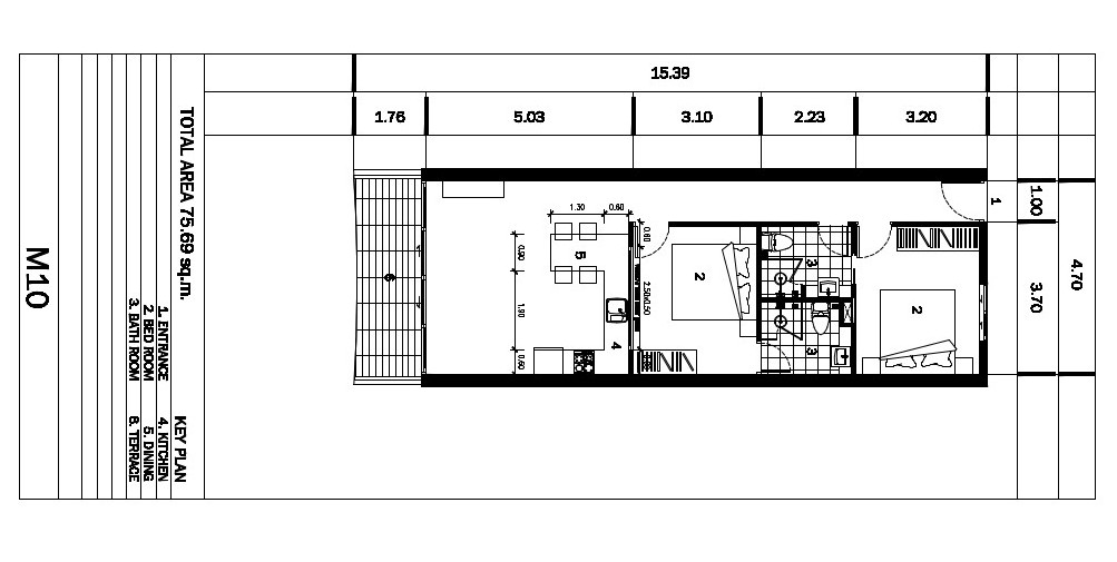 Kata Sea view Apartement M10 Plan